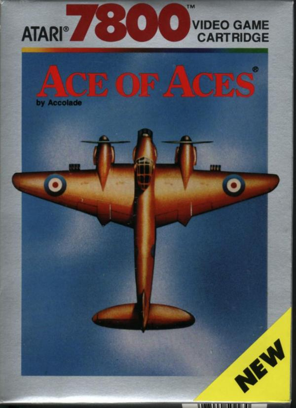 Ace of Aces Atari 7800 cover artwork