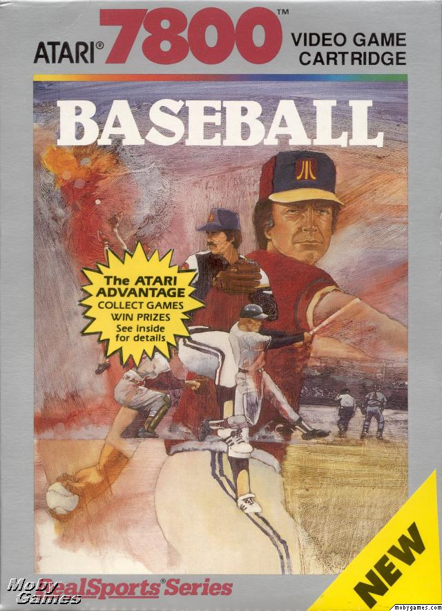 Baseball Atari 7800 cover artwork