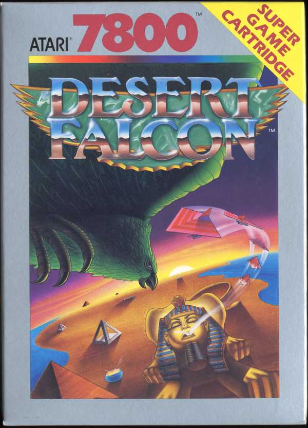 Desert Falcon Atari 7800 cover artwork