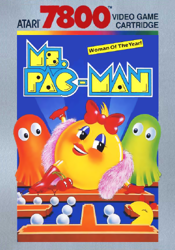 Ms. Pac-Man Atari 7800 cover artwork
