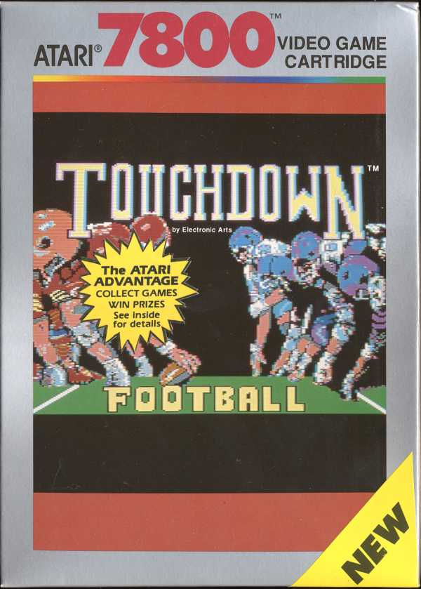 Touchdown Football Atari 7800 cover artwork