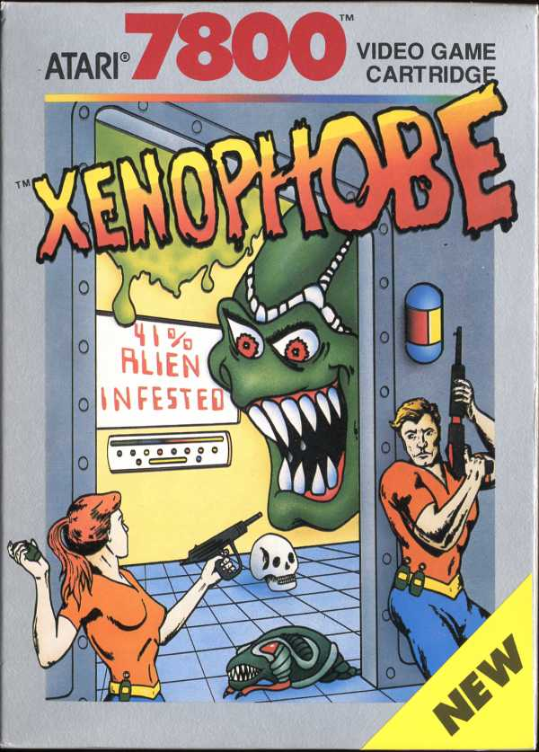 Xenophobe Atari 7800 cover artwork