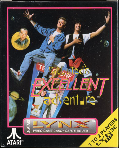 Bill & Ted's Excellent Adventure Atari Lynx cover artwork