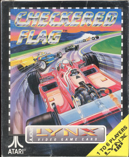Checkered Flag Atari Lynx cover artwork