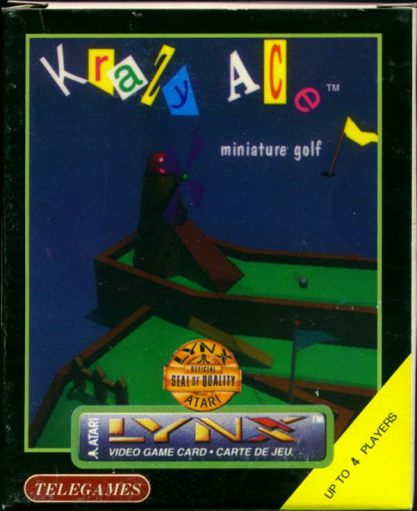 Krazy Ace Minature Golf Atari Lynx cover artwork