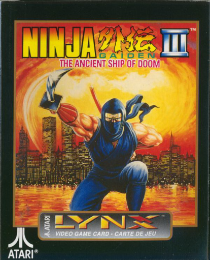 Ninja Gaiden III - The Ancient Ship of Doom Atari Lynx cover artwork
