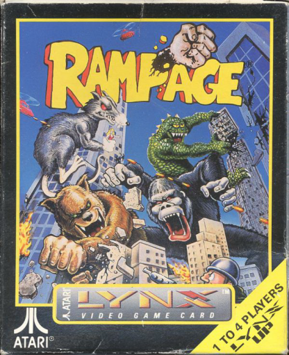 Rampage Atari Lynx cover artwork