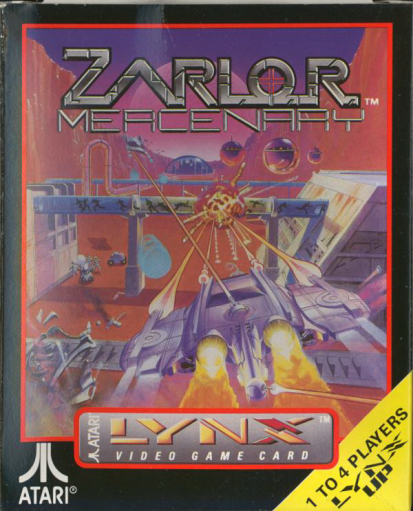 Zarlor Mercenary Atari Lynx cover artwork