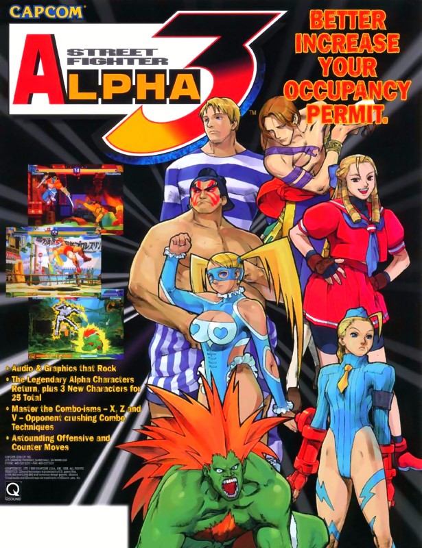 Street Fighter Alpha 3 Capcom CPS 2 cover artwork