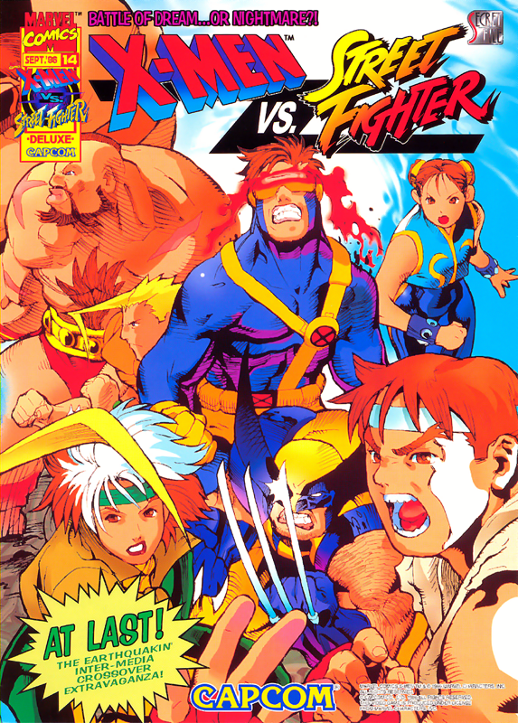 X-Men Vs. Street Fighter Capcom CPS 2 cover artwork