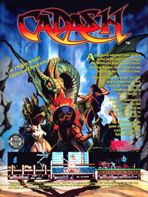 Cadash Coin Op Arcade cover artwork