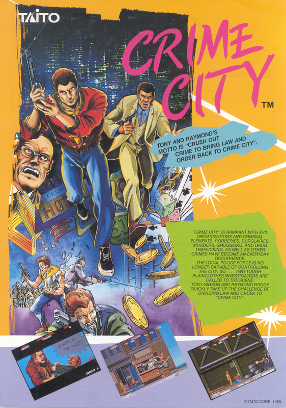 Crime City Coin Op Arcade cover artwork