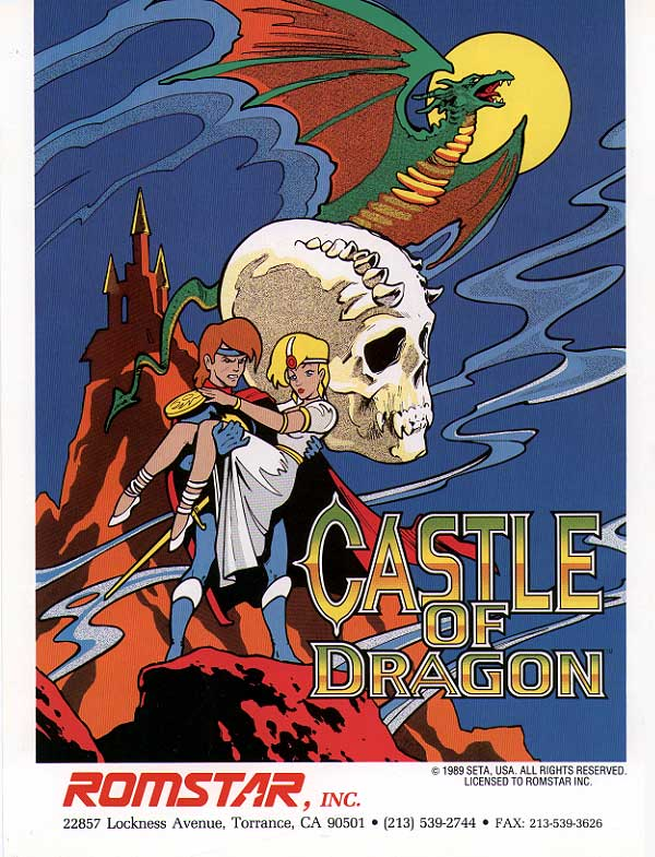 Castle of Dragon - Dragon Unit Coin Op Arcade cover artwork
