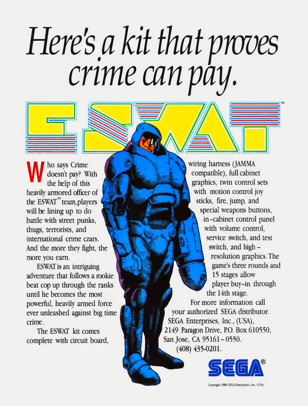 E-Swat : Cyber Police Coin Op Arcade cover artwork