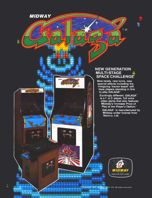 Galaga Coin Op Arcade cover artwork
