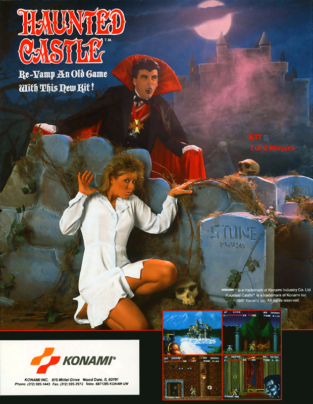 Haunted Castle Coin Op Arcade cover artwork