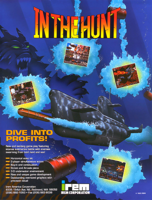In The Hunt Coin Op Arcade cover artwork
