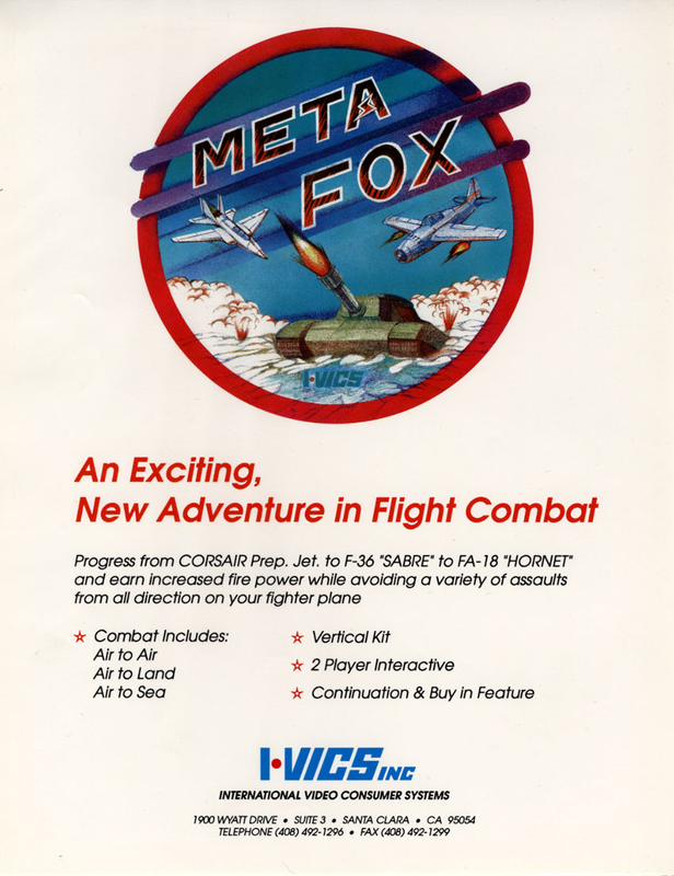 Meta Fox Coin Op Arcade cover artwork