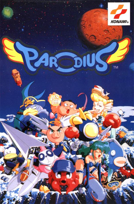 Parodius DA ! Coin Op Arcade cover artwork