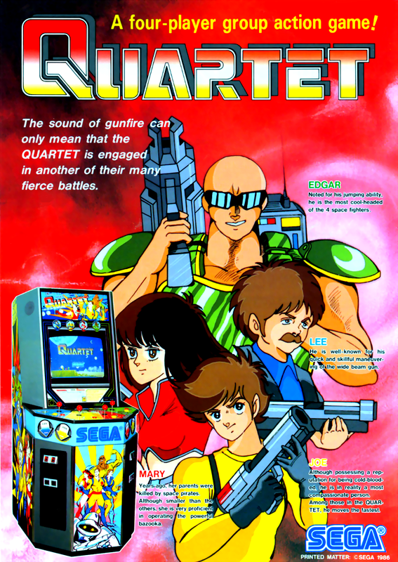Quartet Coin Op Arcade cover artwork