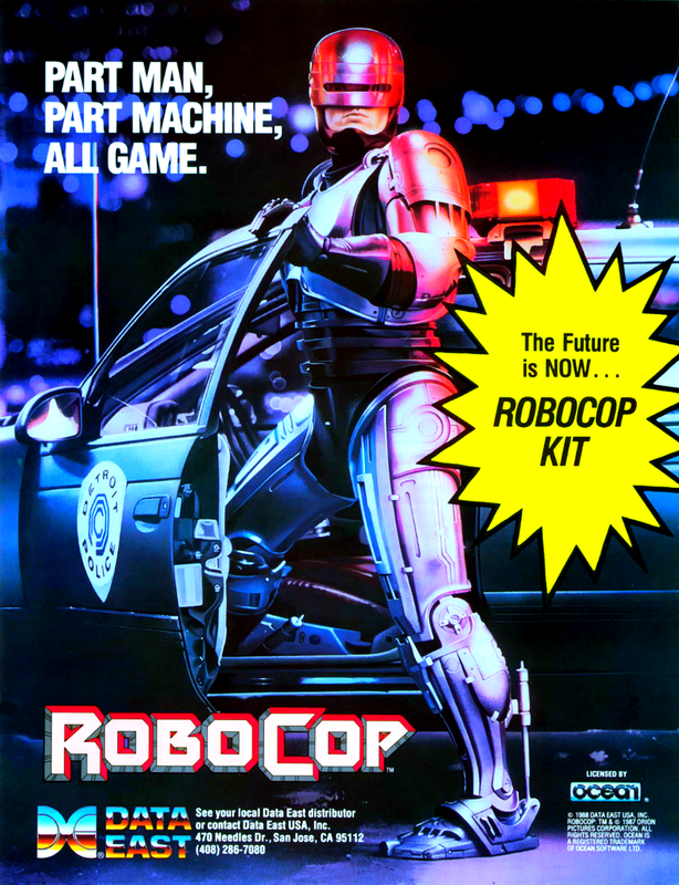 Robocop Coin Op Arcade cover artwork