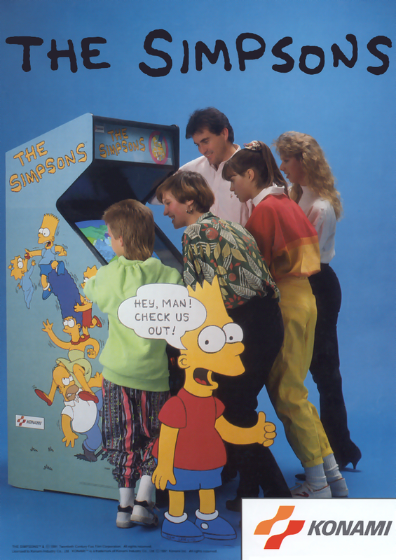 Simpsons, The Coin Op Arcade cover artwork
