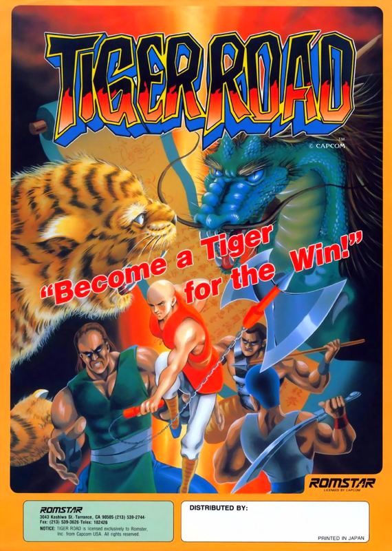 Tiger Road Coin Op Arcade cover artwork