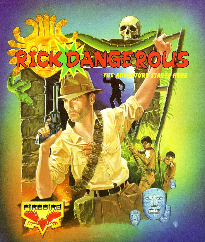 Rick Dangerous Commodore Amiga cover artwork