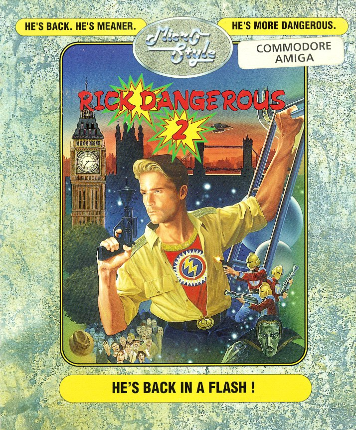Rick Dangerous 2 Commodore Amiga cover artwork