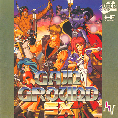 Gain Ground SX NEC PC Engine CD cover artwork