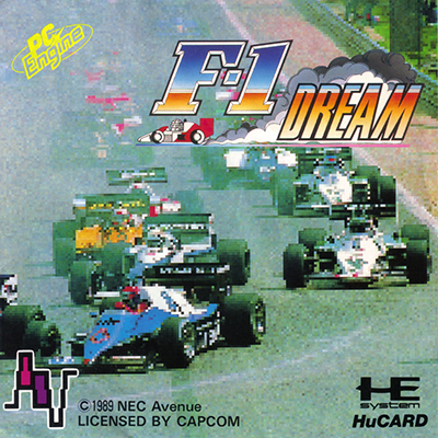 F-1 Dream NEC PC Engine cover artwork
