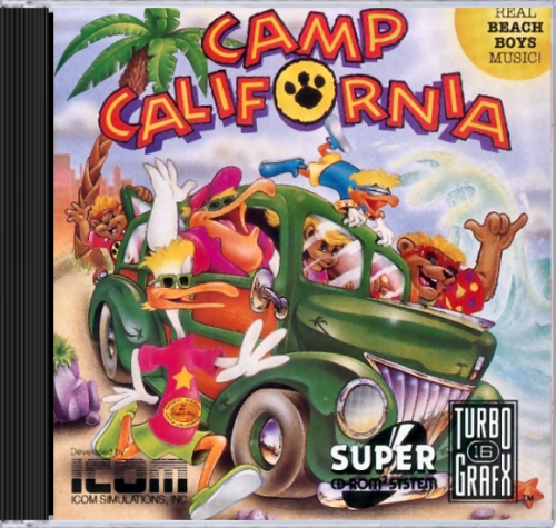 Camp California NEC TurboGrafx 16 CD cover artwork