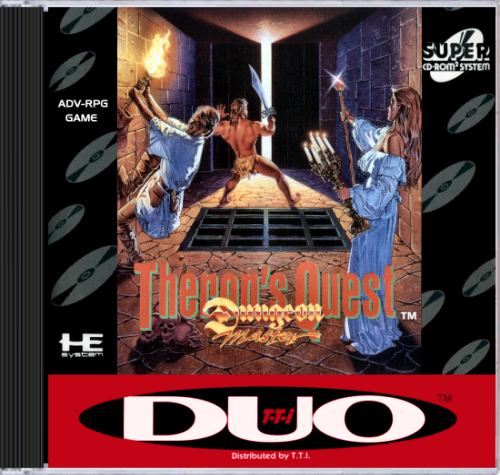 Dungeon Master - Theron's Quest NEC TurboGrafx 16 CD cover artwork