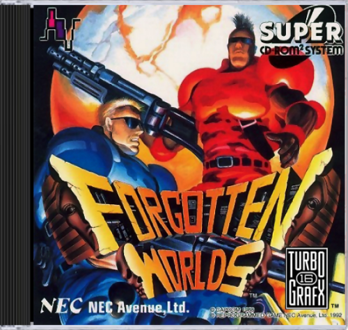 Forgotten Worlds NEC TurboGrafx 16 CD cover artwork