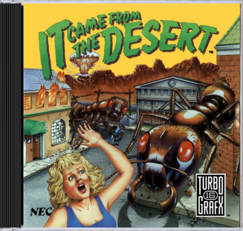 It Came from the Desert NEC TurboGrafx 16 CD cover artwork