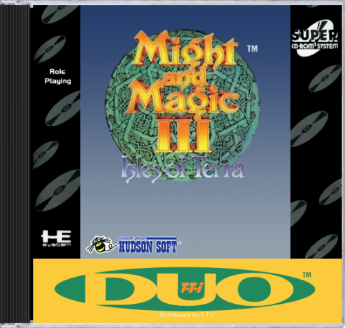 Might and Magic III - Isles of Terra NEC TurboGrafx 16 CD cover artwork