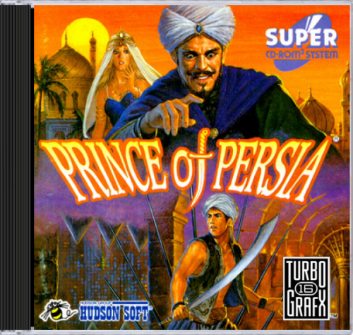 Prince of Persia NEC TurboGrafx 16 CD cover artwork