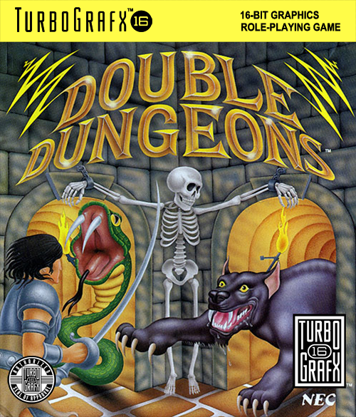 Double Dungeons - W NEC TurboGrafx 16 cover artwork