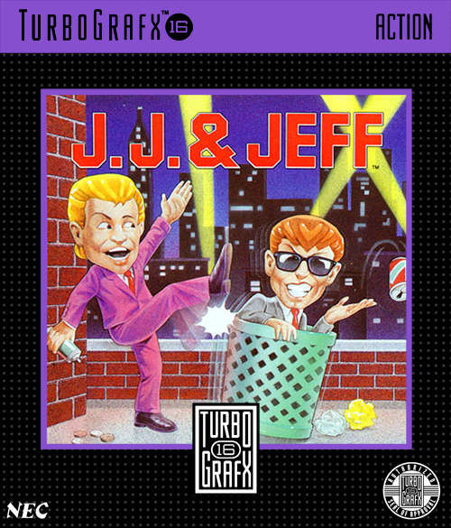 J.J. & Jeff NEC TurboGrafx 16 cover artwork