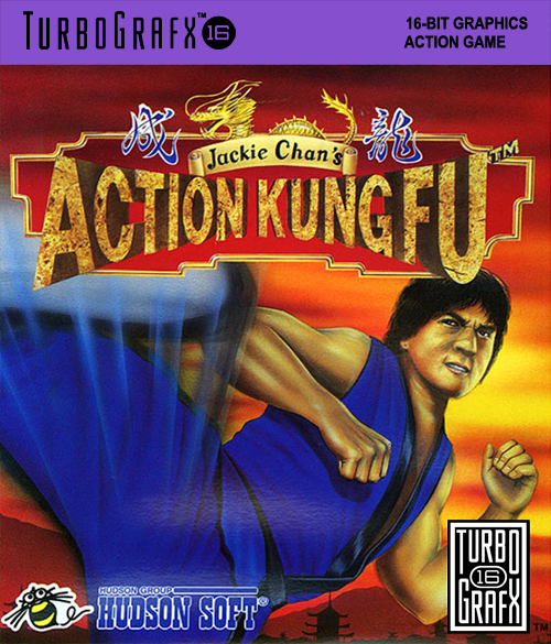 Jackie Chan's Action Kung Fu NEC TurboGrafx 16 cover artwork