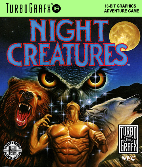 Night Creatures NEC TurboGrafx 16 cover artwork