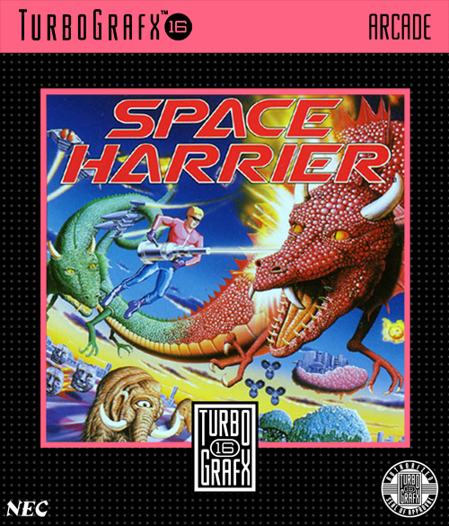 Space Harrier NEC TurboGrafx 16 cover artwork