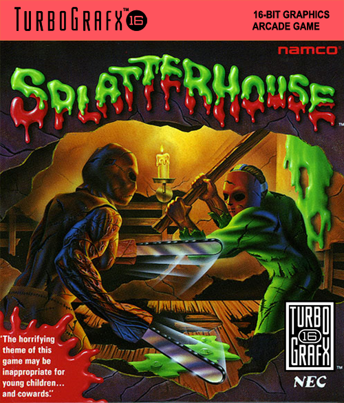 Splatterhouse NEC TurboGrafx 16 cover artwork