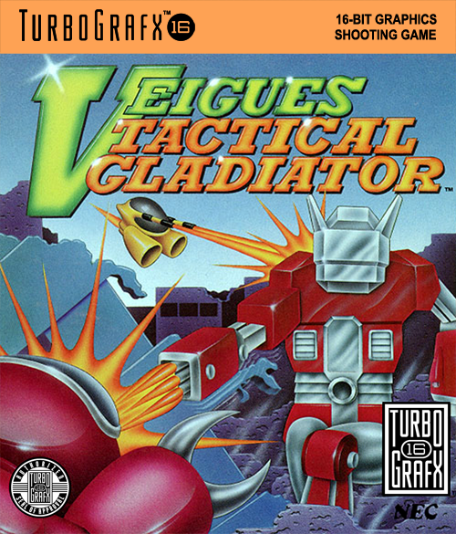 Veigues - Tactical Gladiator NEC TurboGrafx 16 cover artwork