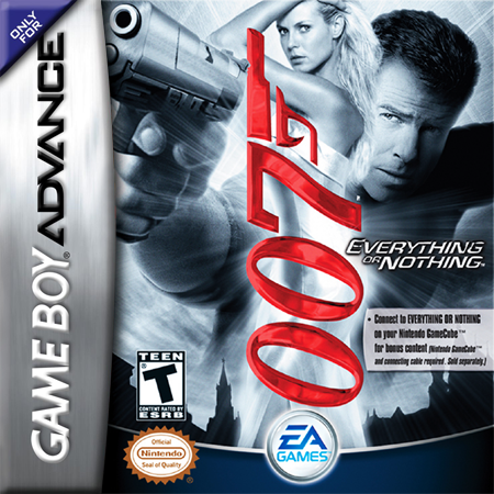 007 - Everything or Nothing Nintendo Game Boy Advance cover artwork
