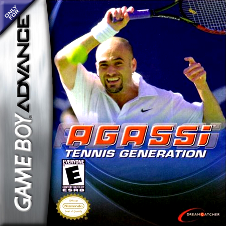 Agassi Tennis Generation Nintendo Game Boy Advance cover artwork