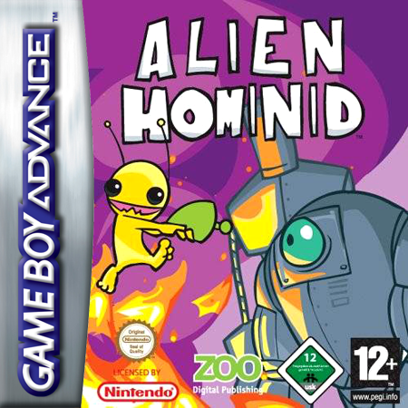 Alien Hominid Nintendo Game Boy Advance cover artwork