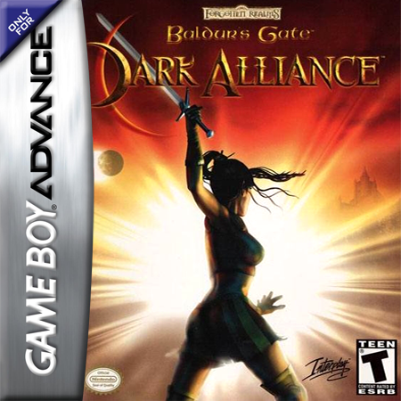 Baldur's Gate - Dark Alliance Nintendo Game Boy Advance cover artwork