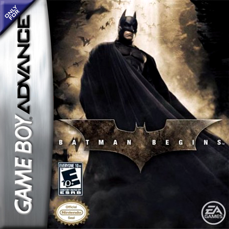 Batman Begins Nintendo Game Boy Advance cover artwork
