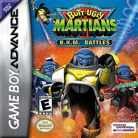 Butt-Ugly Martians - B.K.M. Battles Nintendo Game Boy Advance cover artwork